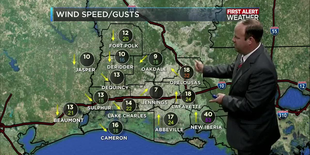 First Alert Forecast: Barry moves inland with minimal impacts to Southwest Louisiana