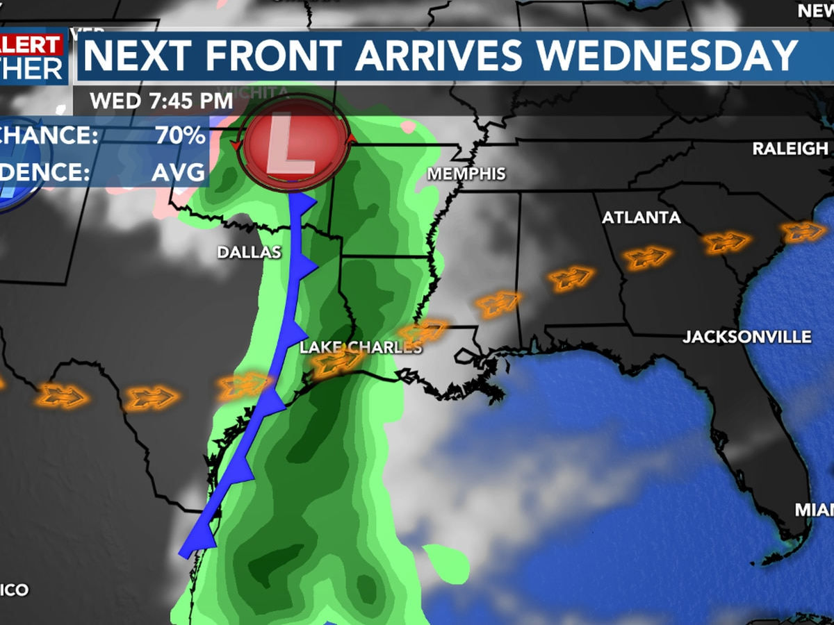 First Alert Forecast: Warmer tonight, rain likely Wednesday ahead of the next front.