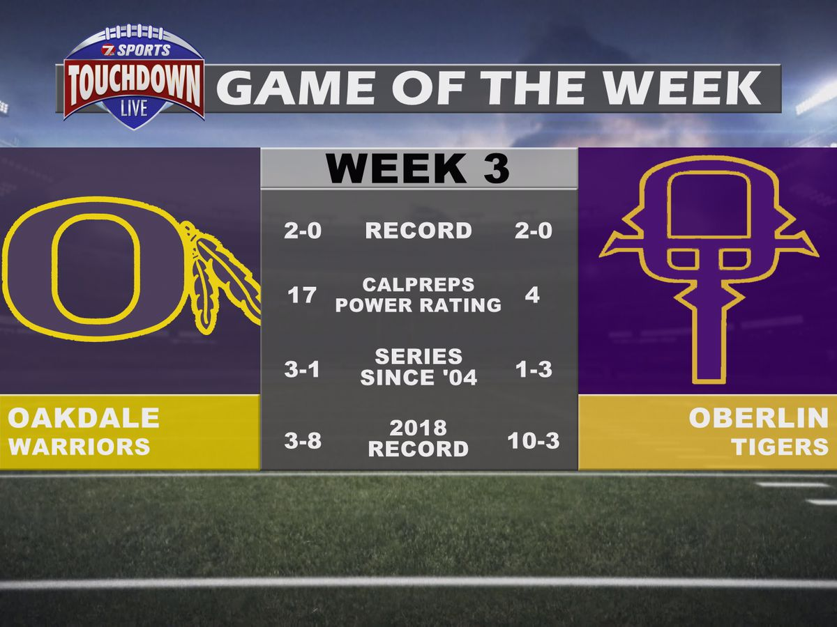 Oakdale at Oberlin named week three TDL Game of the Week