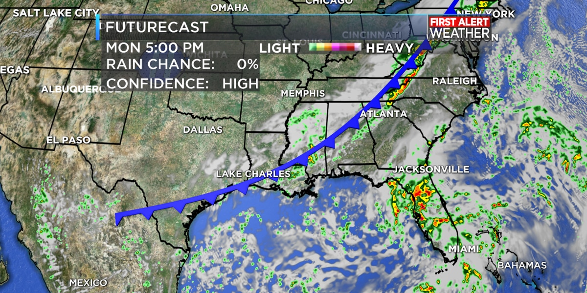 FIRST ALERT FORECAST: First true cold front has arrived, but a stronger one will arrive later this week!
