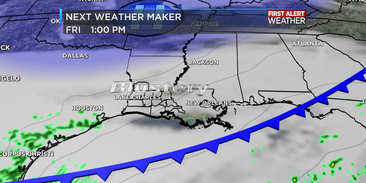 FIRST ALERT FORECAST: A gumbo kind of day as temperatures turn abruptly cooler