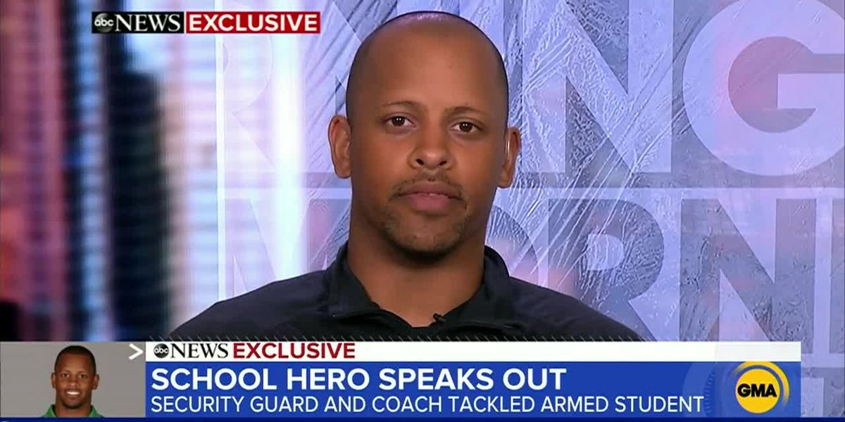 Coach who stopped Ore. school shooting says he's 'blessed to be alive,' happy students are safe