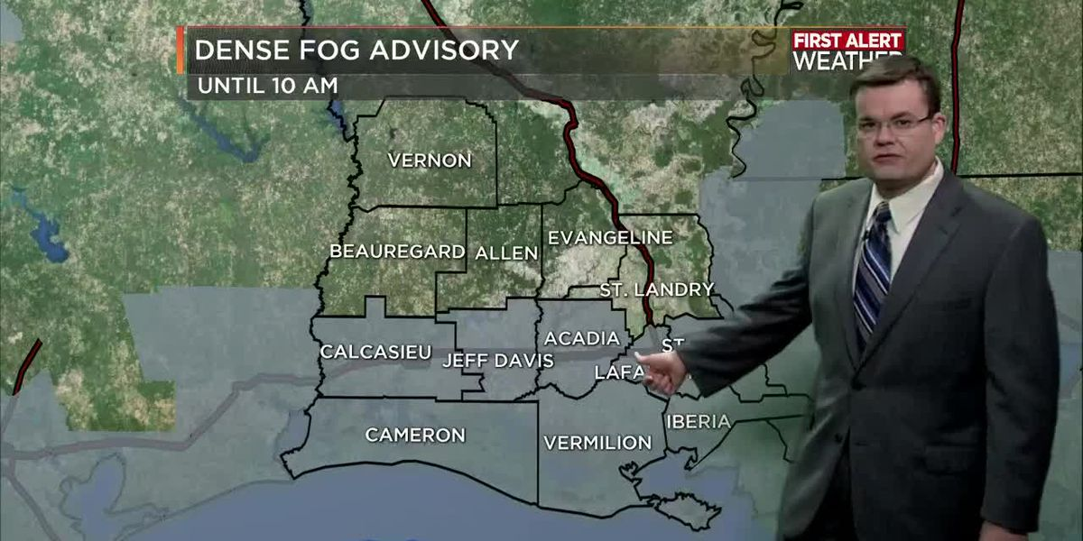FIRST ALERT FORECAST: Morning fog with rain increasing late tonight ahead of front