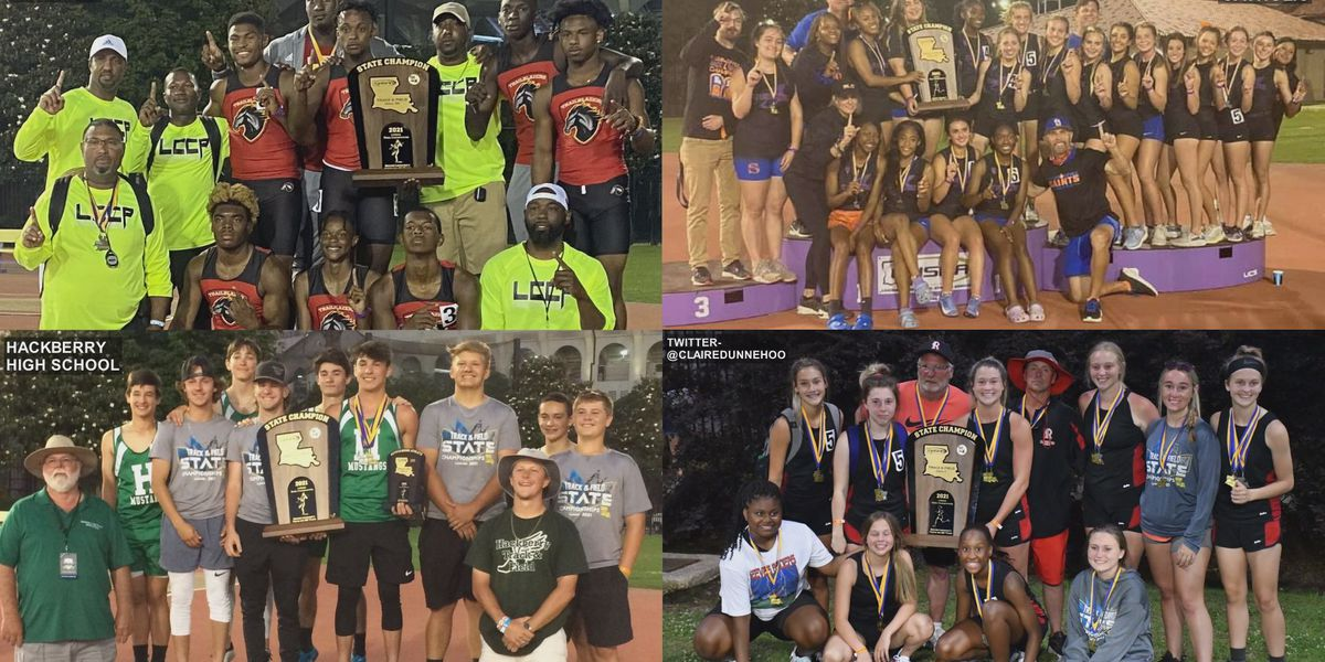 LCCP, St. Louis, Hackberry and Reeves win team titles at 2021 LHSAA Outdoor Track & Field State Meet