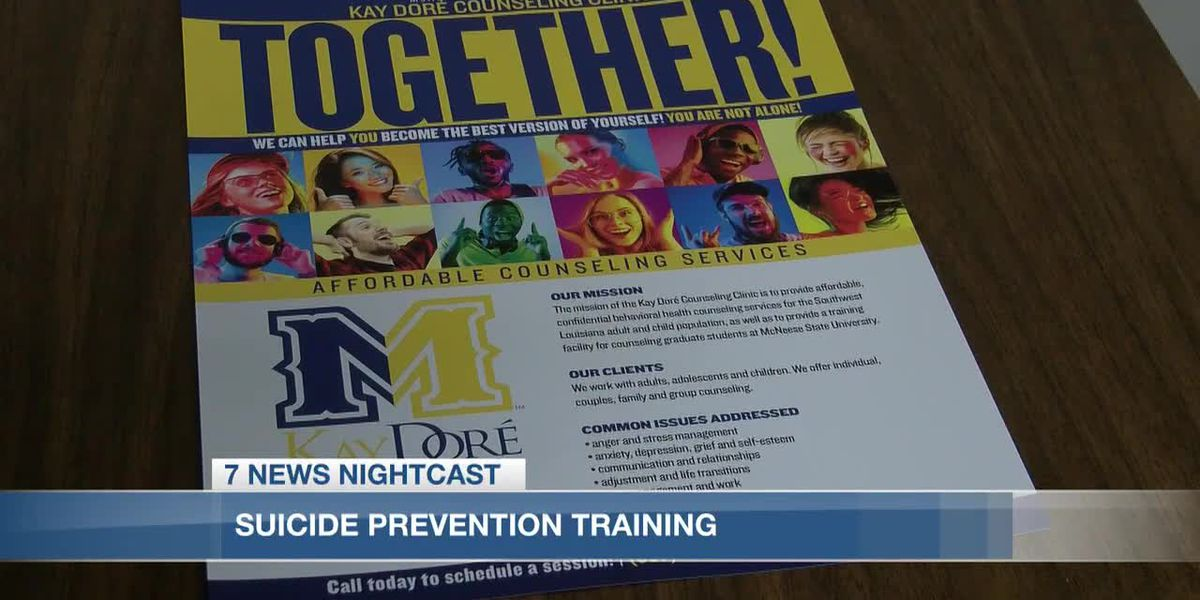 McNeese State University counseling clinic to offer suicide prevention training