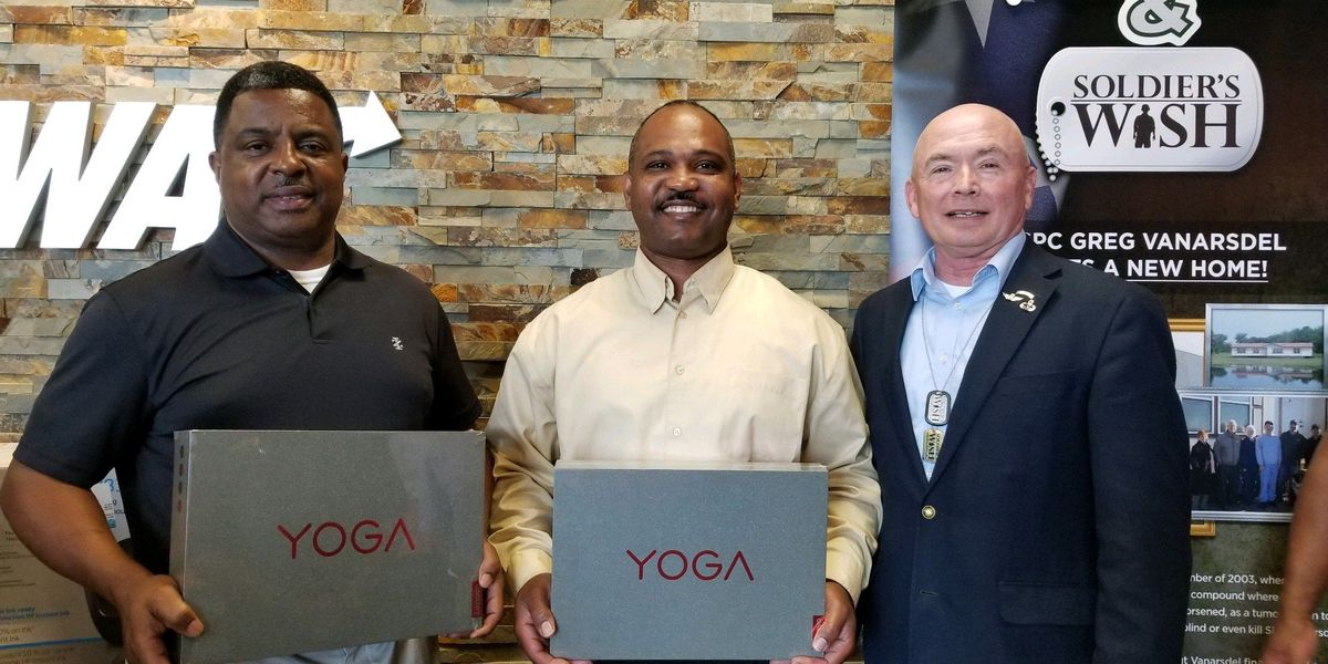 Two Lake Charles veterans honored with laptops