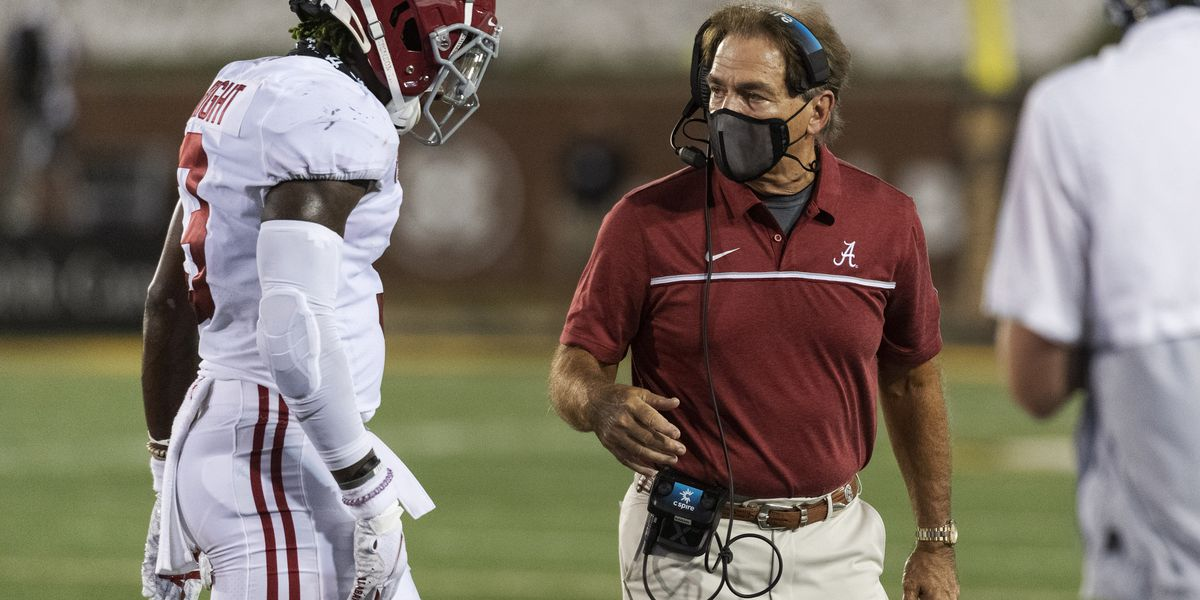 Alabama's Saban cleared to coach after 3rd negative test