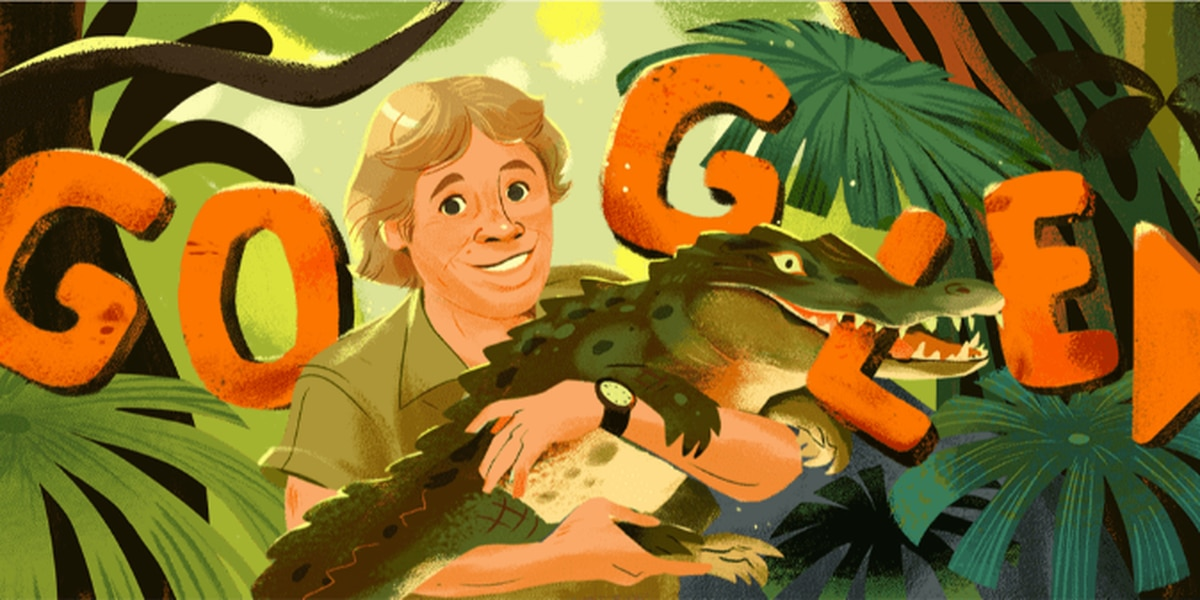 Google Doodle celebrates 'Crocodile Hunter' Steve Irwin's birthday