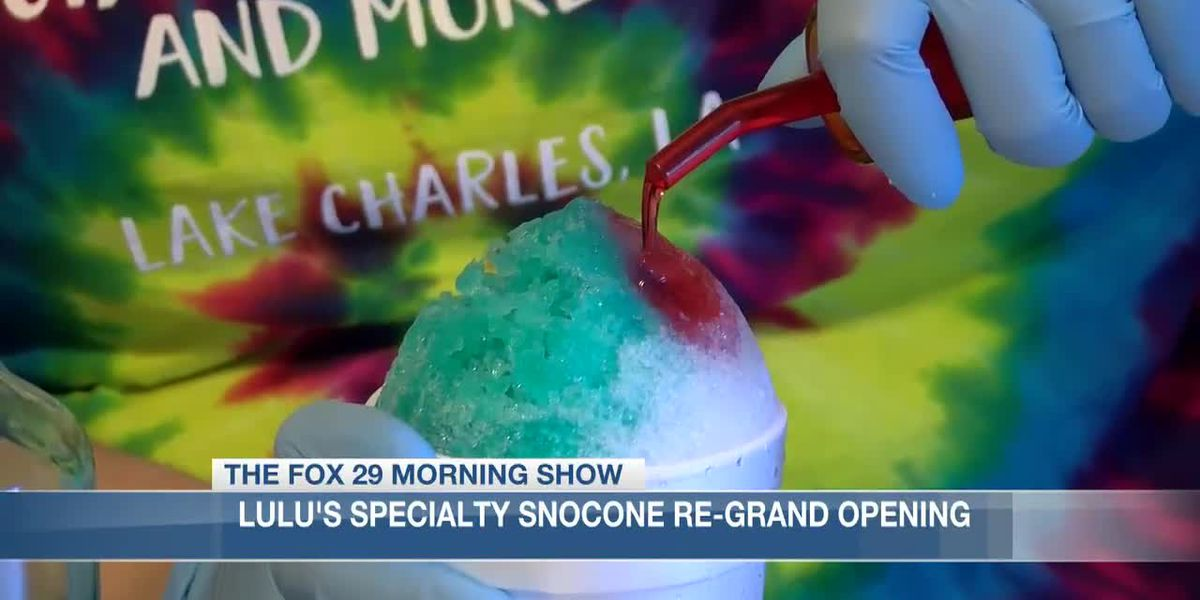 Lulu's Specialty Snocones hosts grand reopening