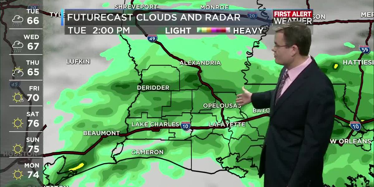 FIRST ALERT FORECAST: Cool and rainy today; heavier rain by late Wednesday night