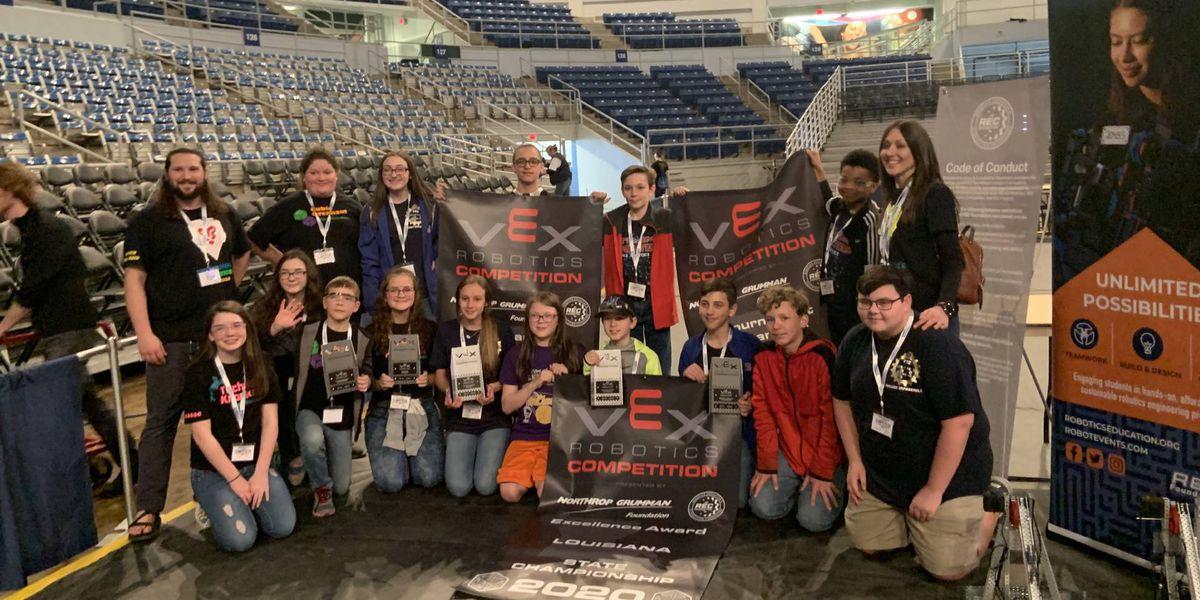 Vinton Middle School robotics team headed to World Championship