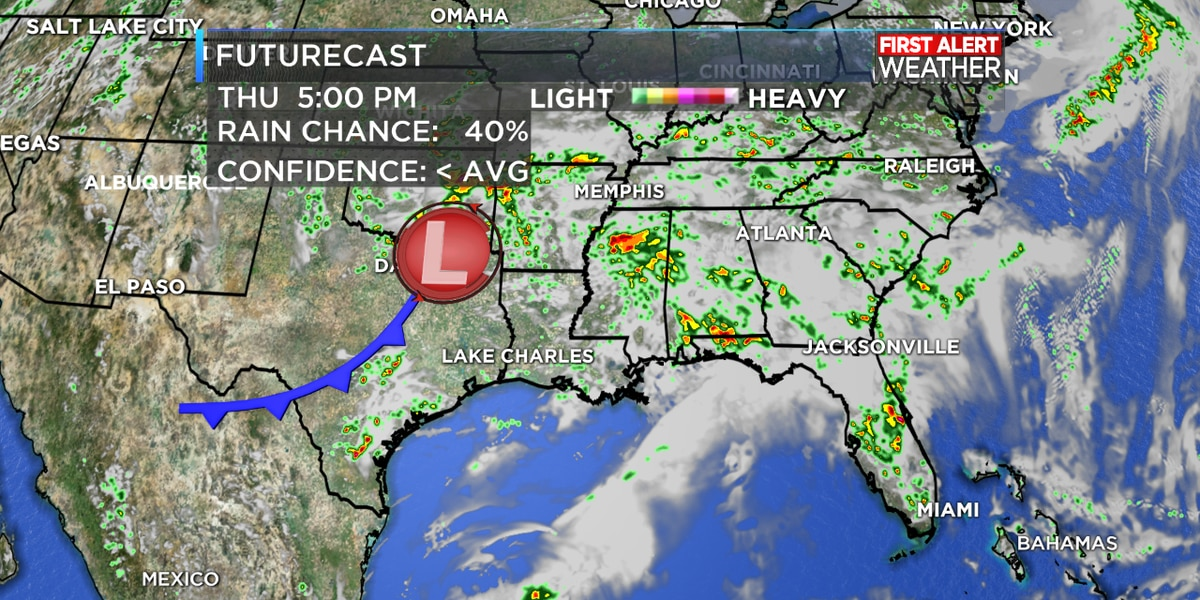 FIRST ALERT FORECAST: Rain chances decreasing just in time for the weekend