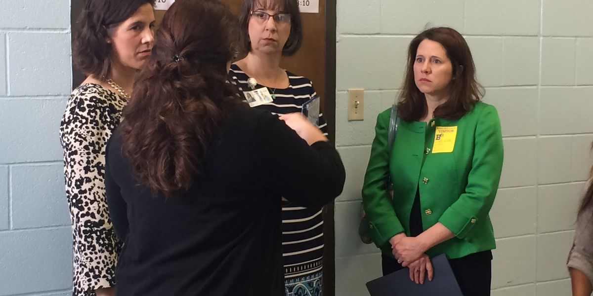 BESE representative Holly Boffy tours Barbe