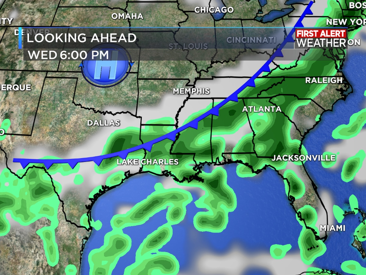 FIRST ALERT FORECAST: Rain chances on the increase through the weekend