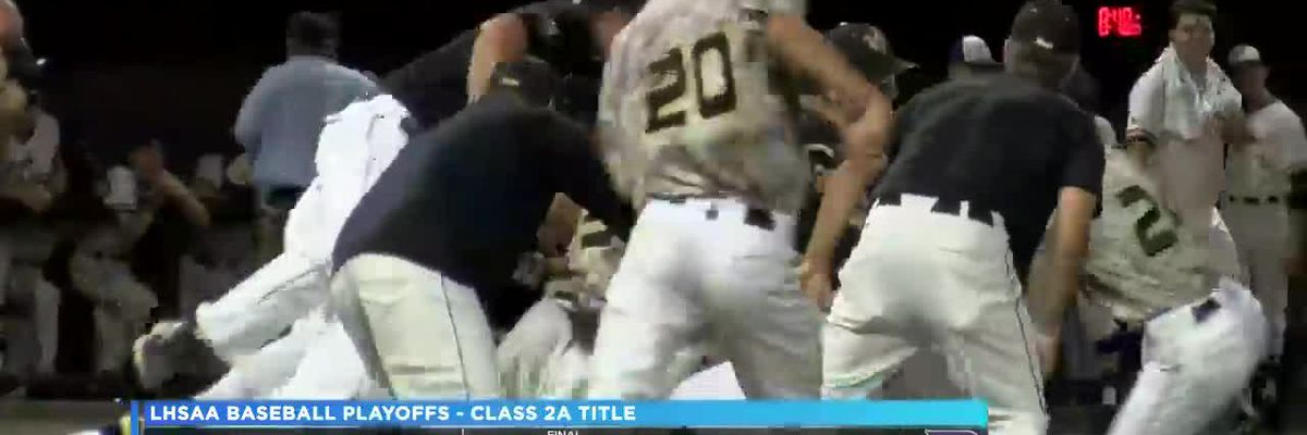 Kinder rides big inning to Class 2A state baseball title