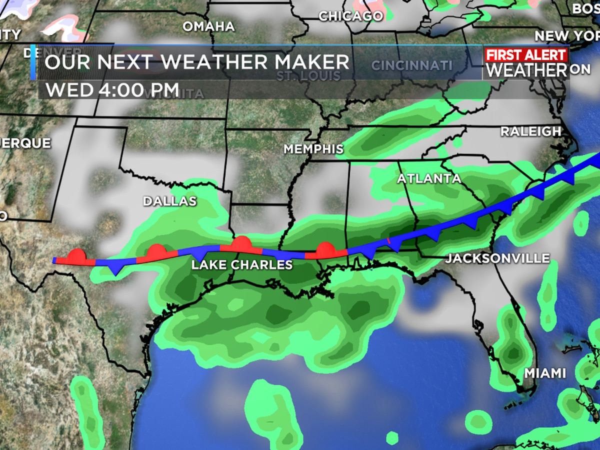 First Alert Forecast: Rain likely just about every day this week with a big cool-down on its way
