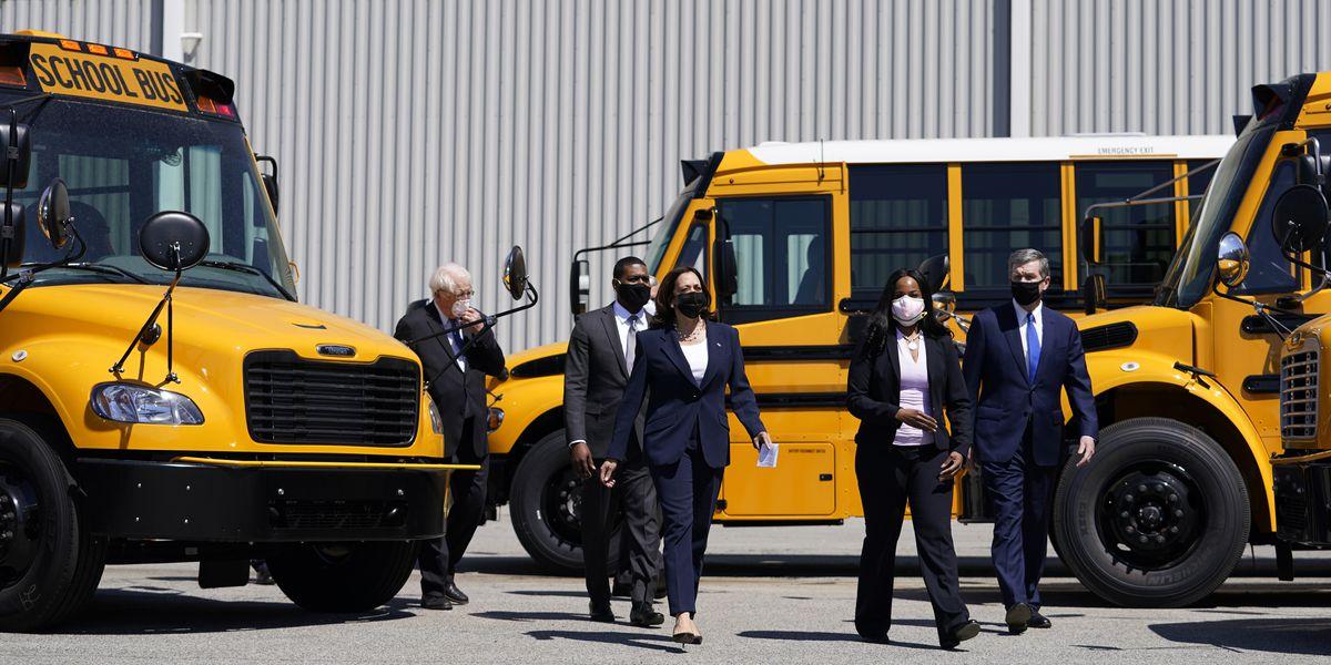 Democrats push $25B to electrify school buses, a Biden priority