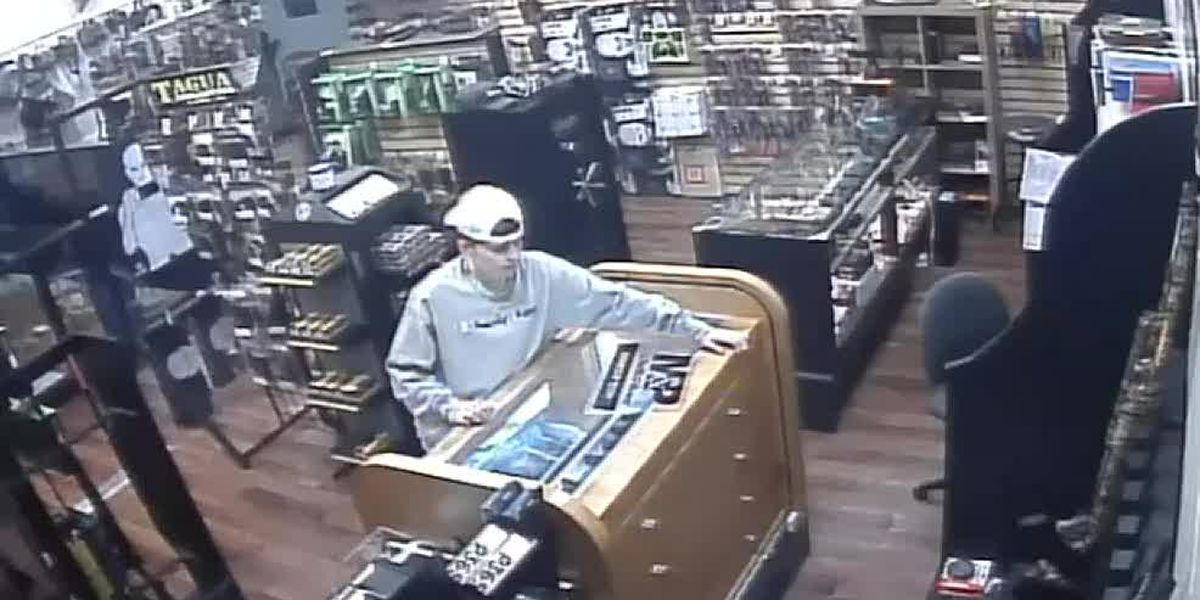 VIDEO: Police searching for suspect accused of stealing firearm from Common Street business
