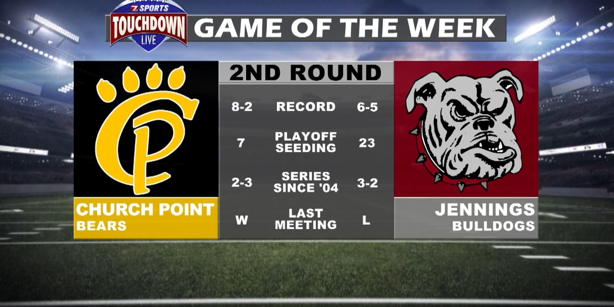 Jennings' second round matchup with Church Point named TDL Game of the Week