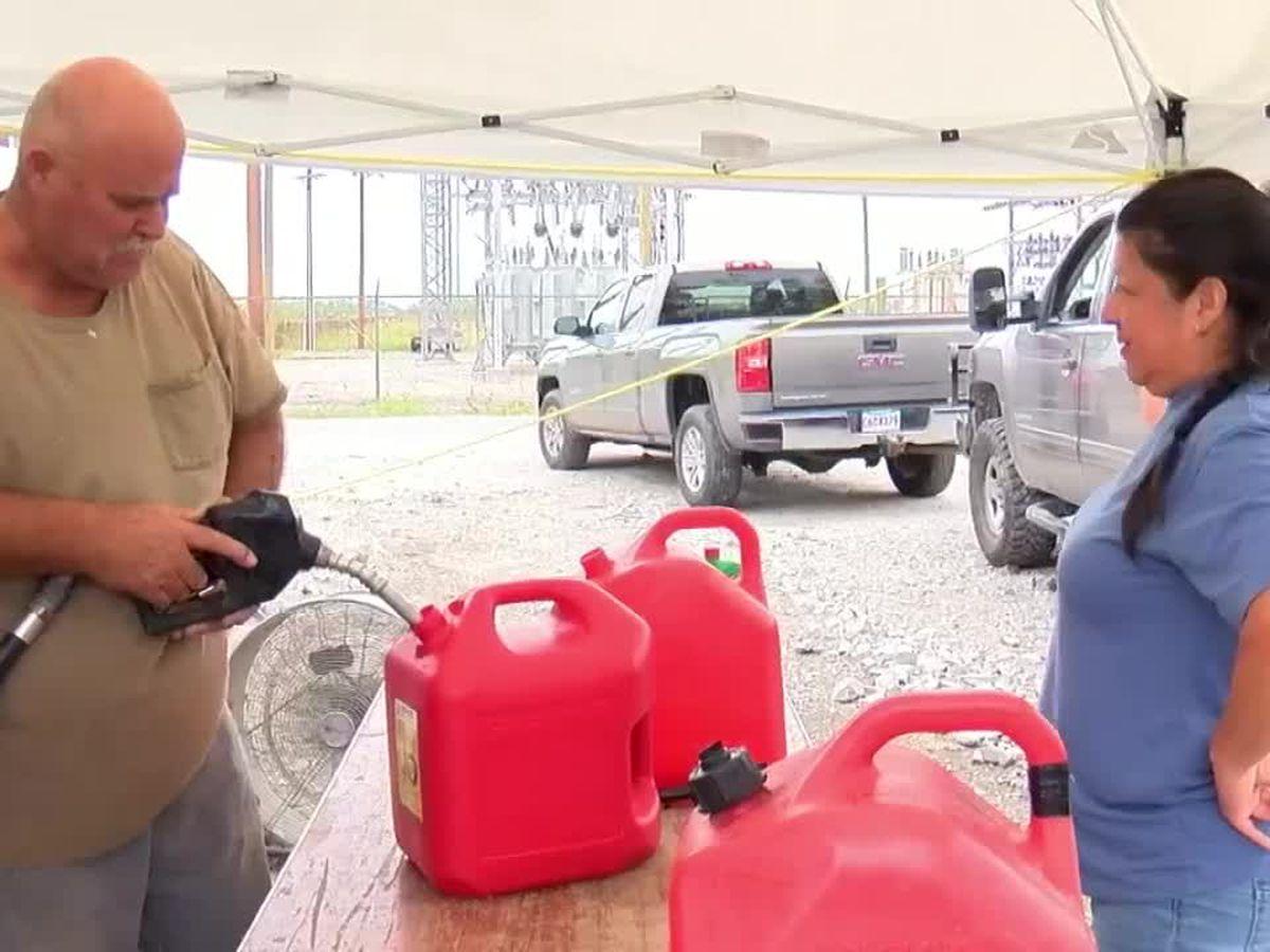 Locals provide free fuel to support Cameron Parish