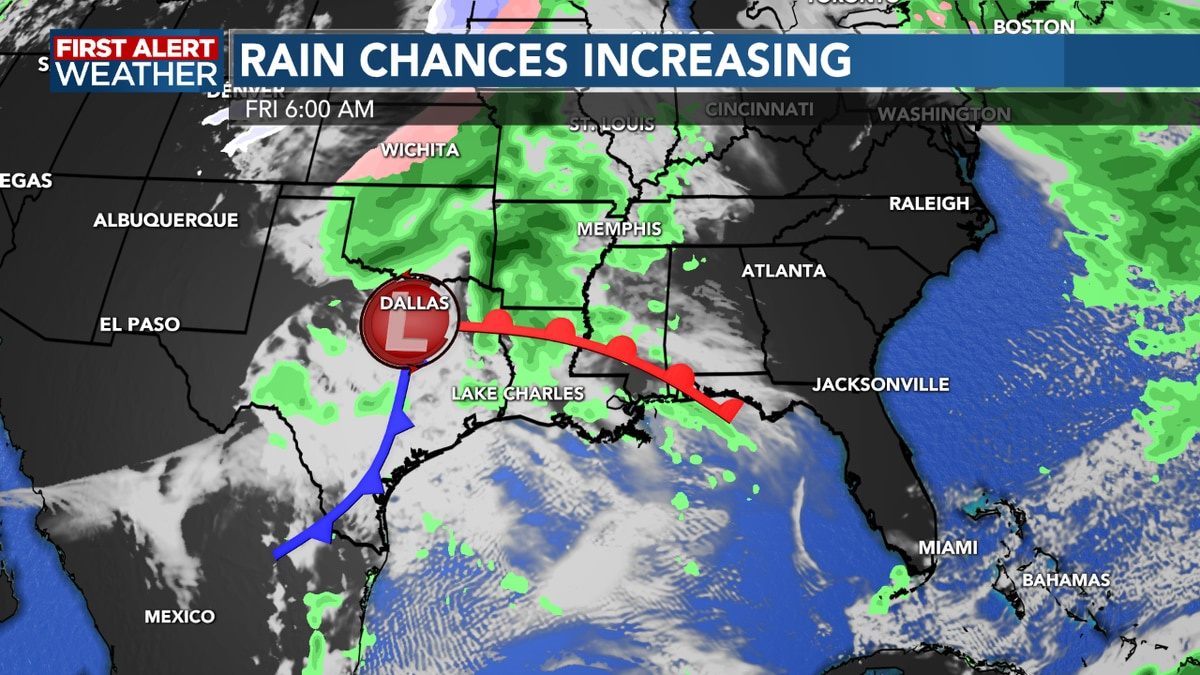 FIRST ALERT FORECAST: A mostly cloudy afternoon, rain chances go up beginning Friday night