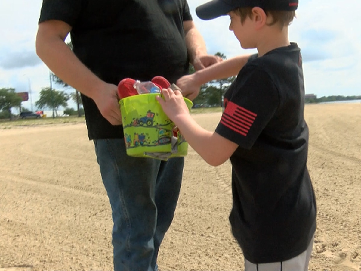 Local 9-year-old inspired to pick up trash as a hobby