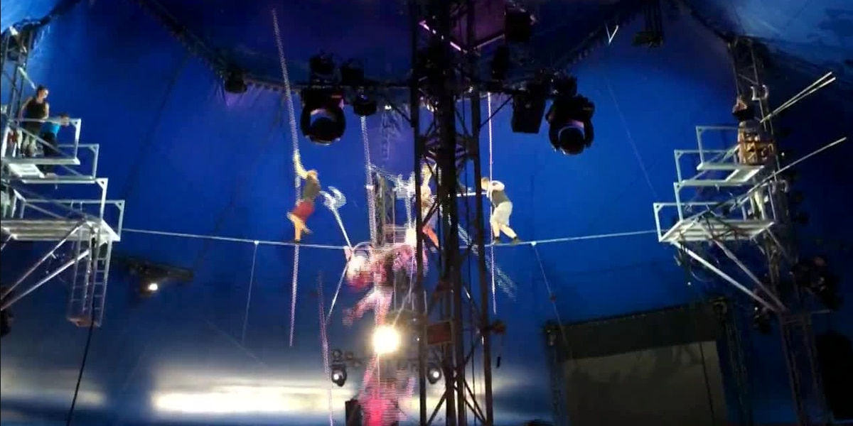 Video shows performers fall during high-wire stunt