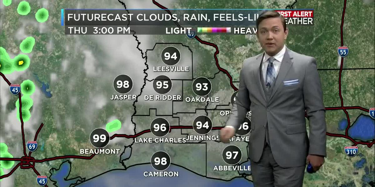 First Alert Forecast: Lower rain chances with hot temperatures and hazy conditions