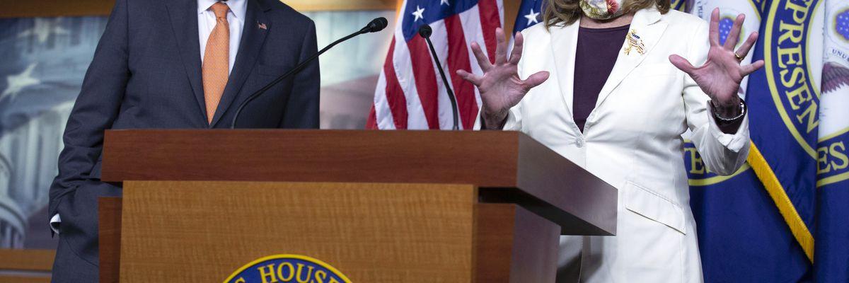 In virus talks, Pelosi holds firm; Mnuchin wants a deal