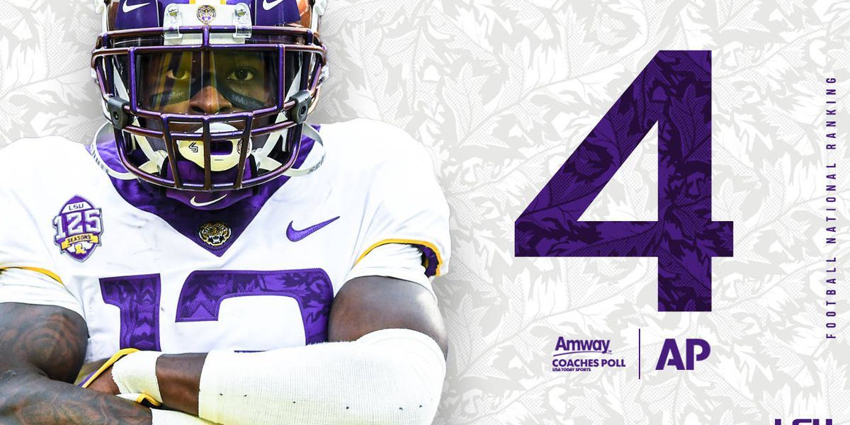 LSU up to No. 4 in AP poll