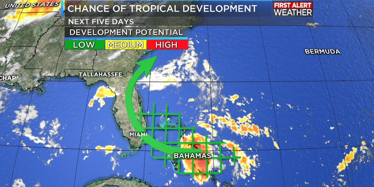 National Weather Service tracking new tropical wave off Central Bahamas