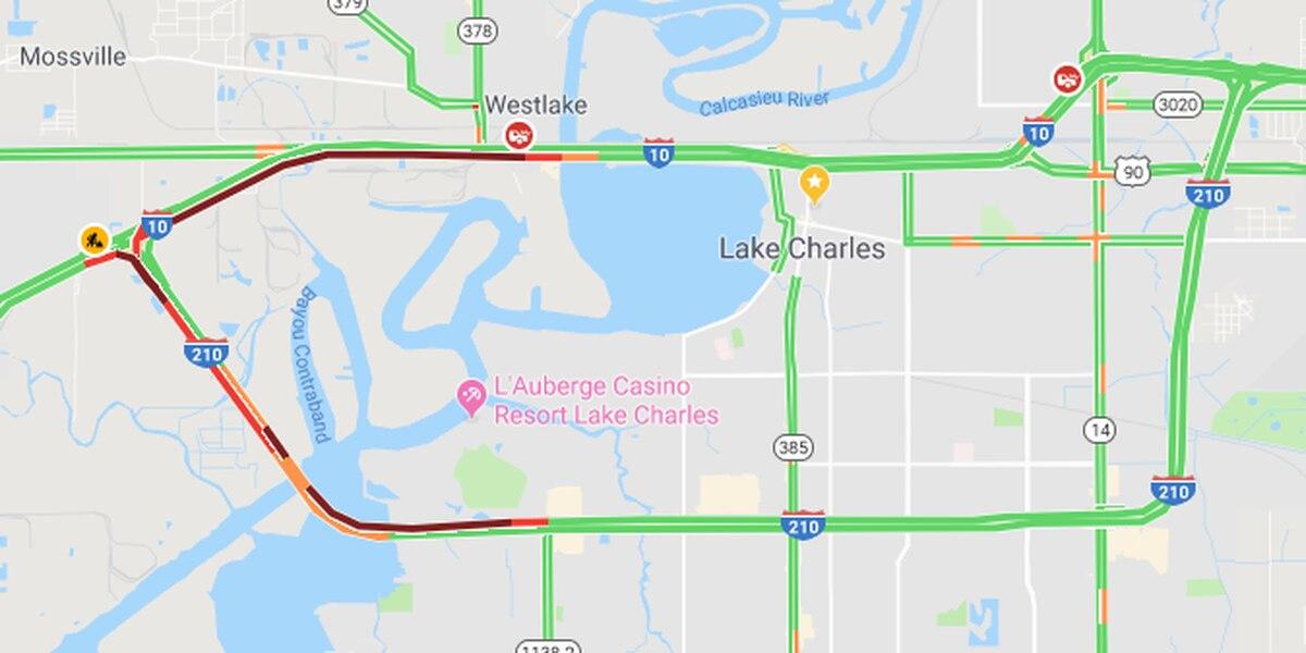 Lake Charles Traffic Map FIRST ALERT TRAFFIC: Congestion on I 10 bridge EB following accident