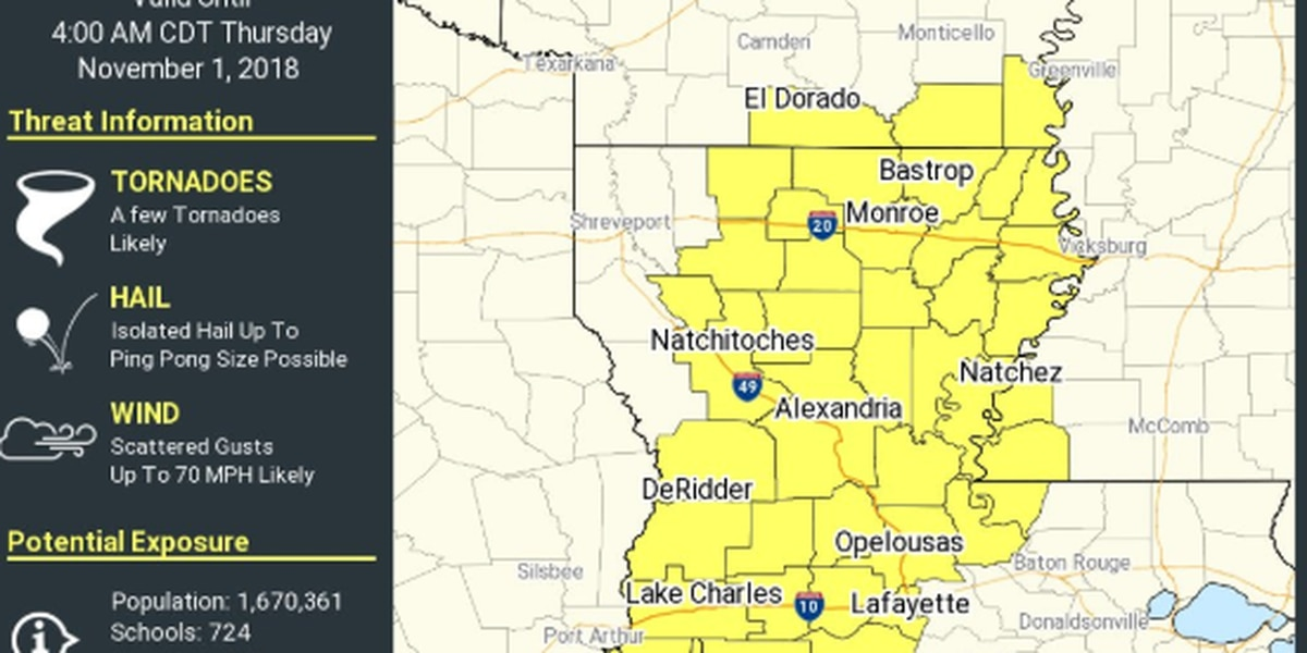 Severe Weather Warnings Expire For Swla