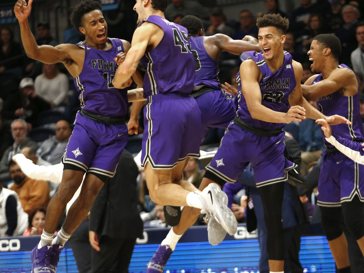 Lyons leads Furman to stunning upset of No. 8 Villanova