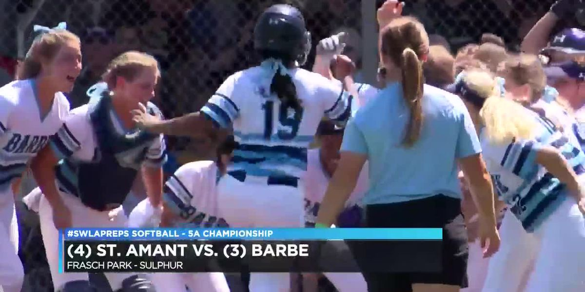 Late home run sends St. Amant past Barbe in the 5A state championship game