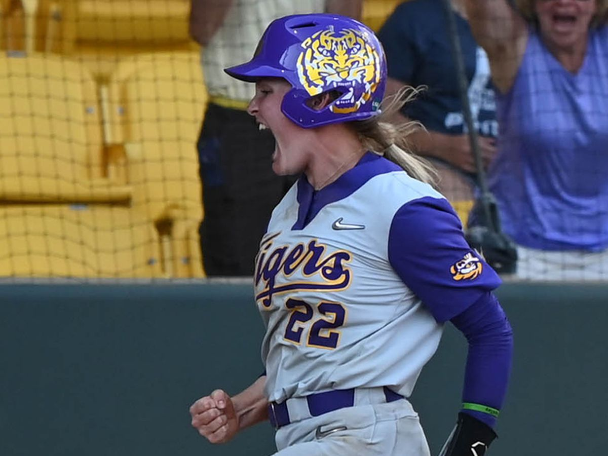 LSU softball wins marathon game over Texas Tech on walk-off sac fly, set to face Red Raiders in regional final