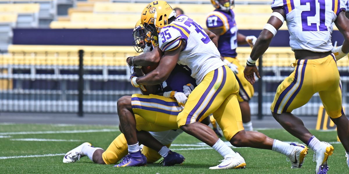 LSU LB Damone Clark catches eye of coaches and teammates