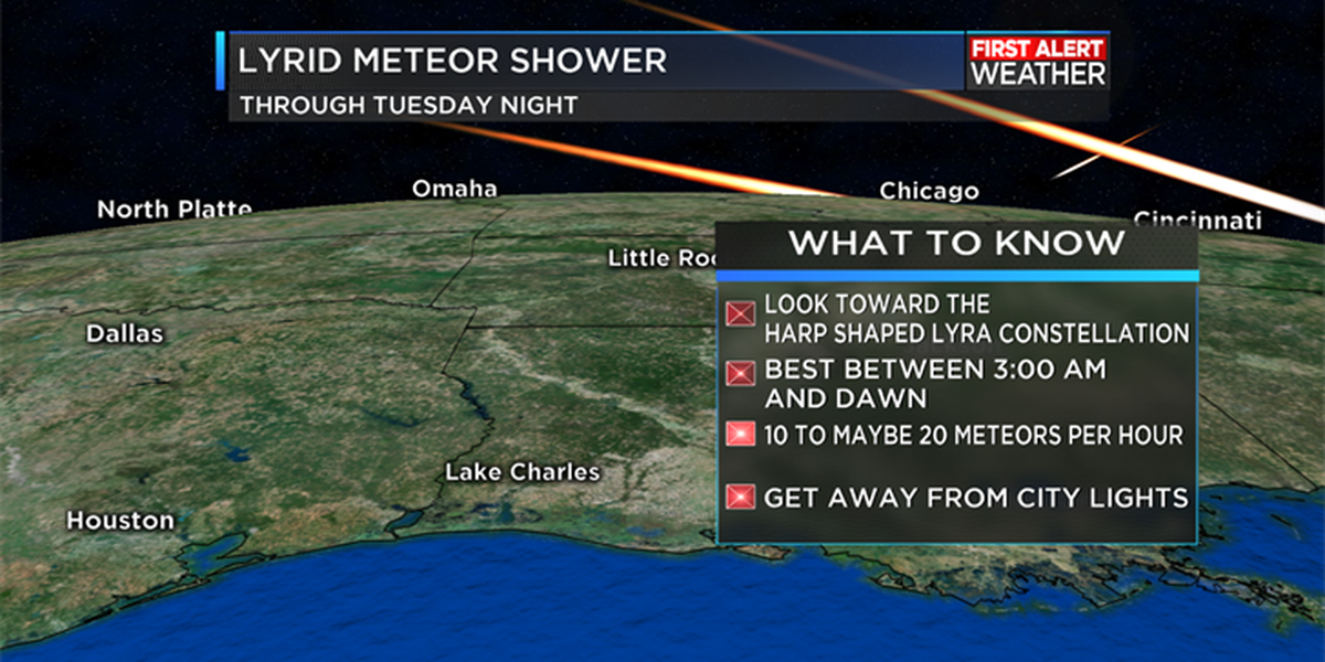 Last chances to view the Lyrid Meteor Shower this week