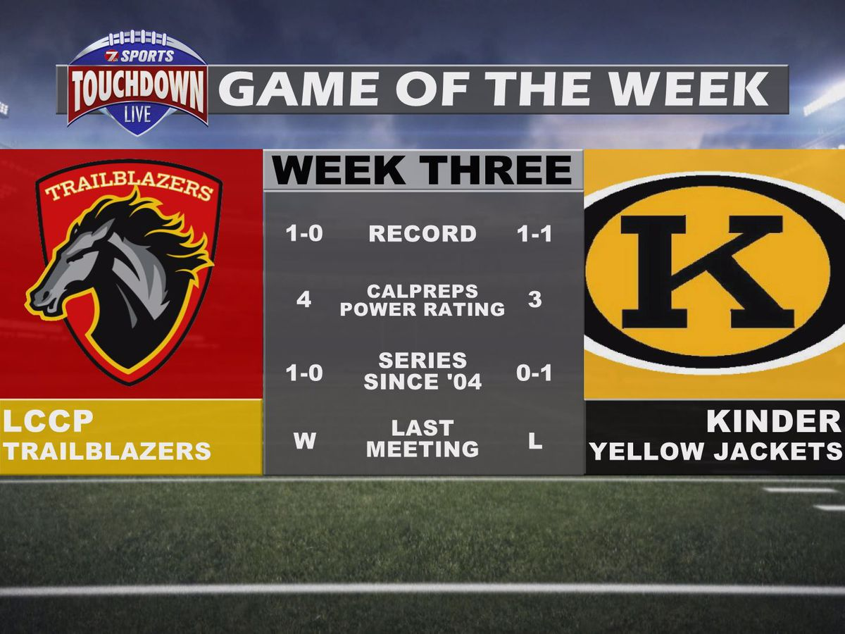 LCCP at Kinder named week three TDL Game of the Week