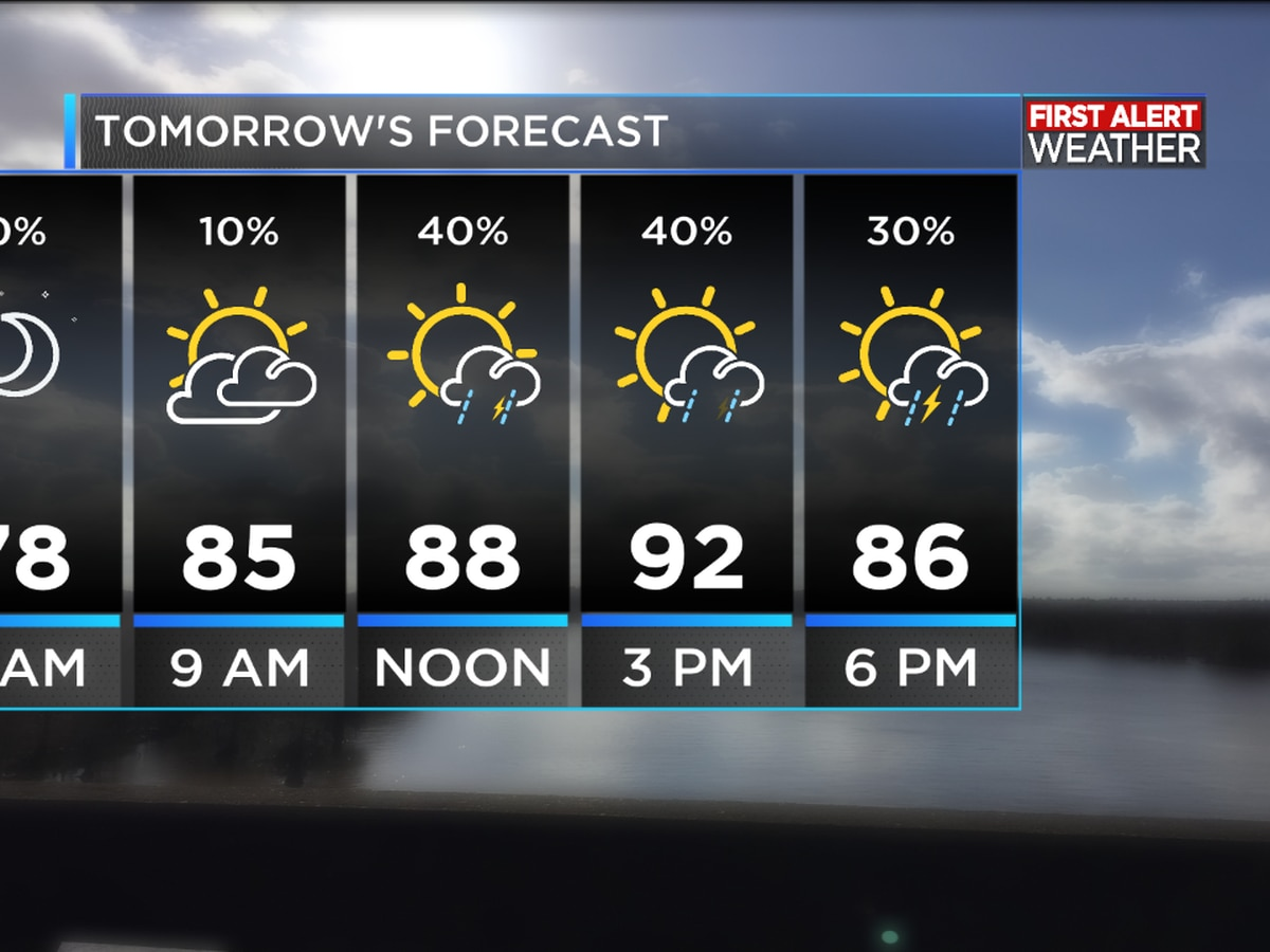 First Alert Forecast: Afternoon shower and storm chances continue daily