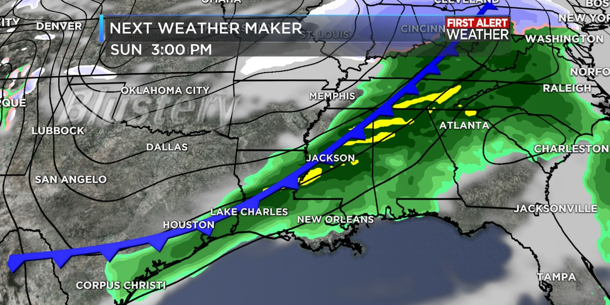 FIRST ALERT FORECAST: Storms take a break this morning as temperatures warm up