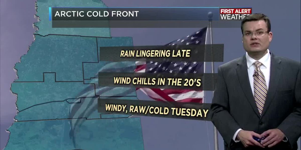 FIRST ALERT FORECAST: Rain likely tonight; bitterly cold Tuesday and Wednesday