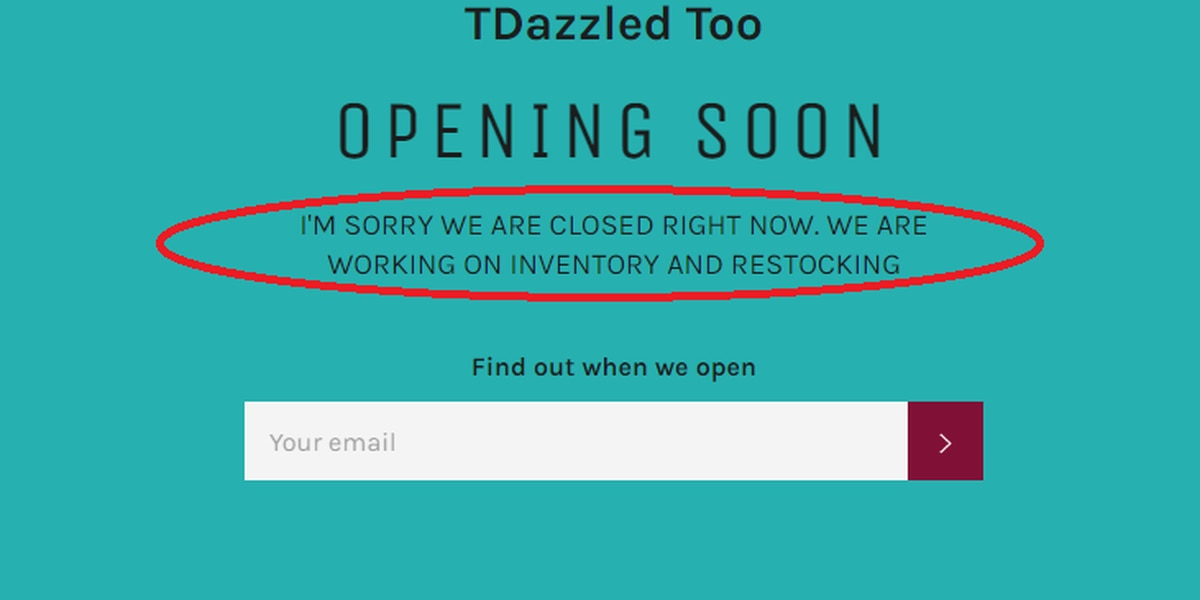 Customers reportedly out hundreds of dollars after online clothing store closes