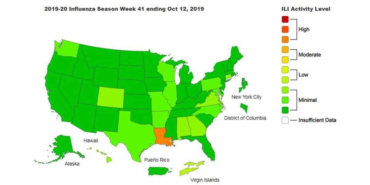 CDC says Louisiana leading region with flu-like patient visits
