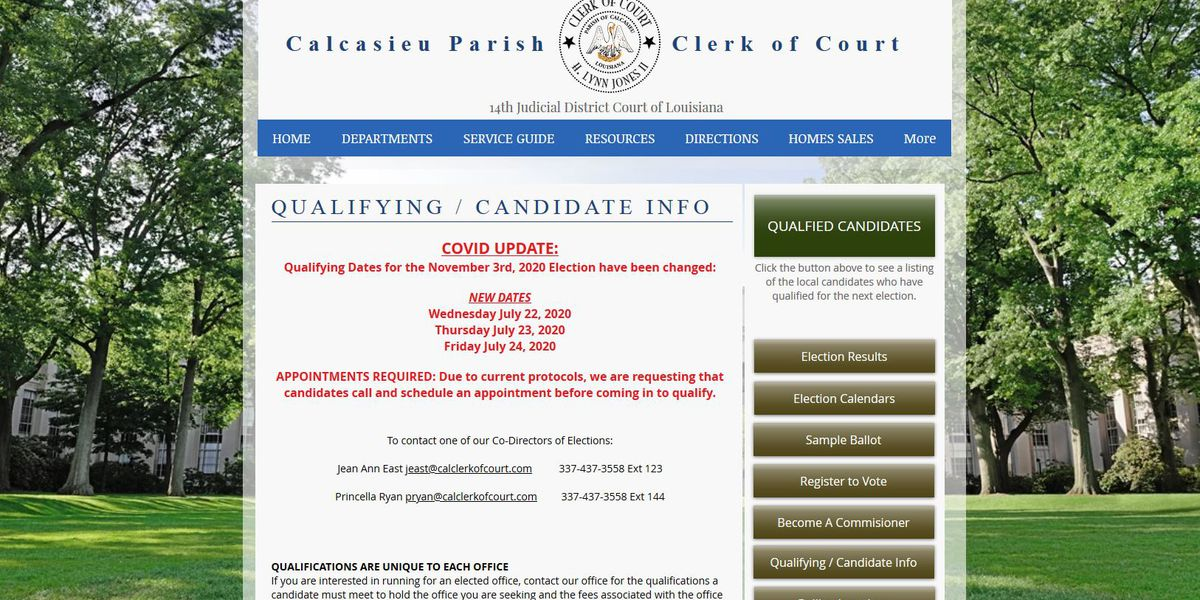 Candidates in Calcasieu asked to make appointments to qualify July 22-24
