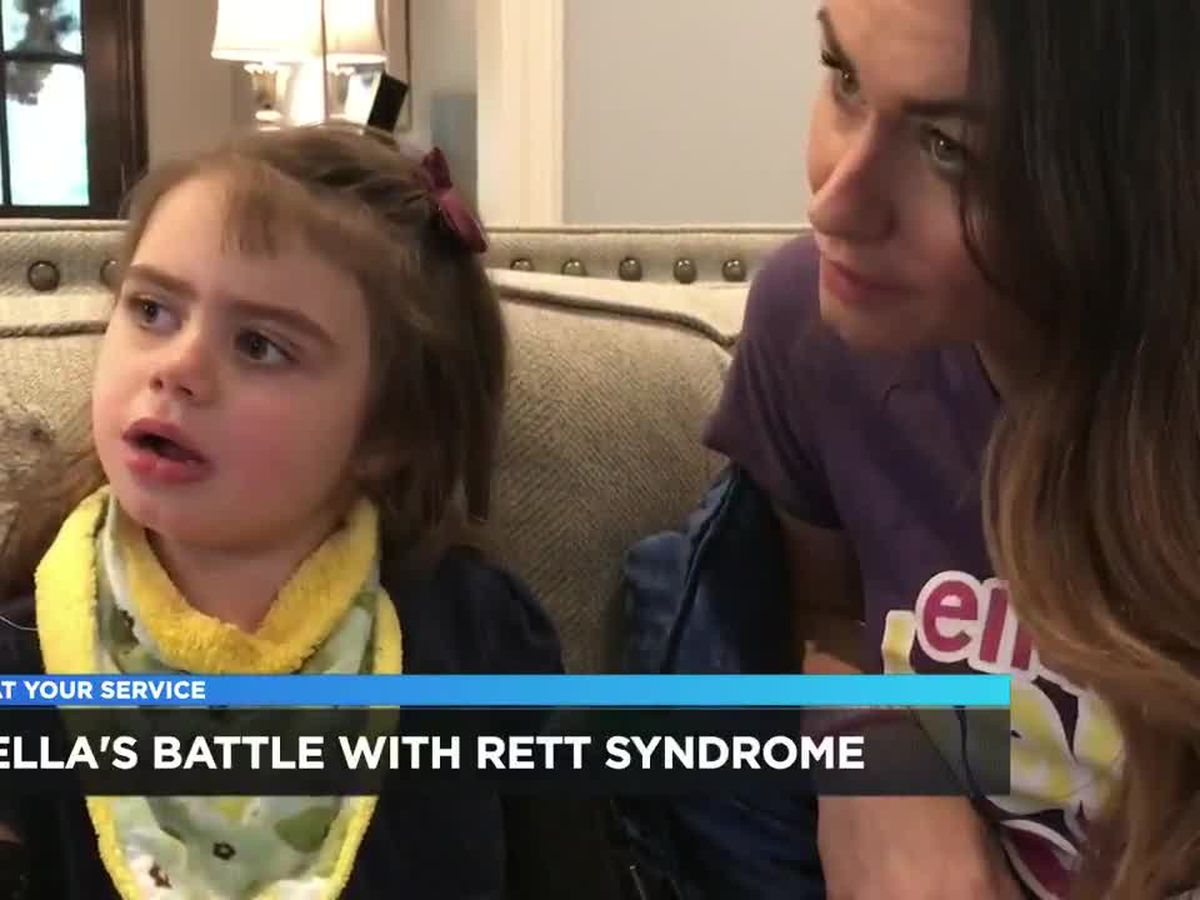5-year-old Ella diagnosed with Rett Syndrome