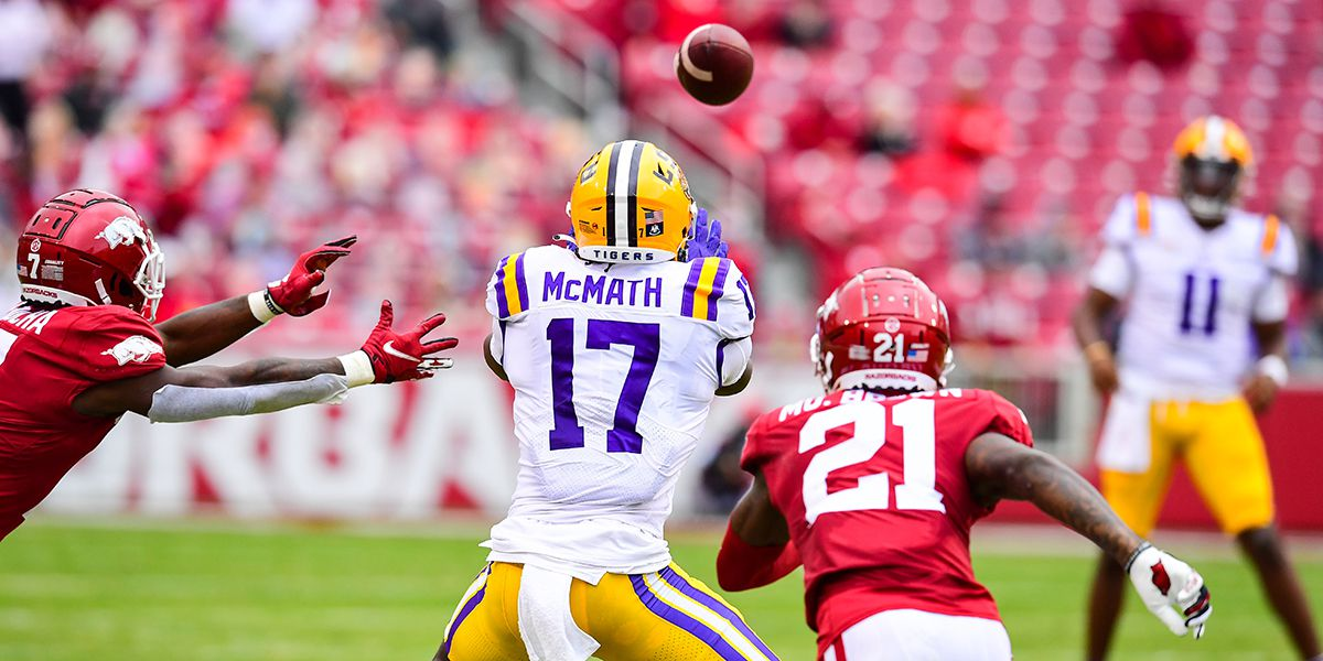 REPORT: LSU WR Racey McMath declares for NFL Draft