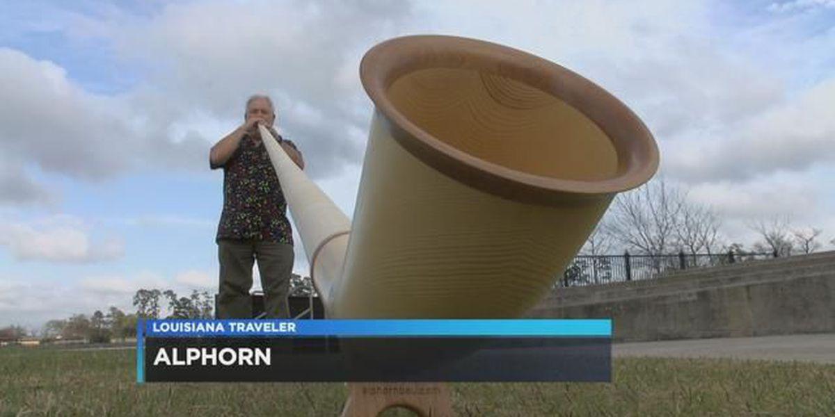 McNeese professor shows off his Alp horn