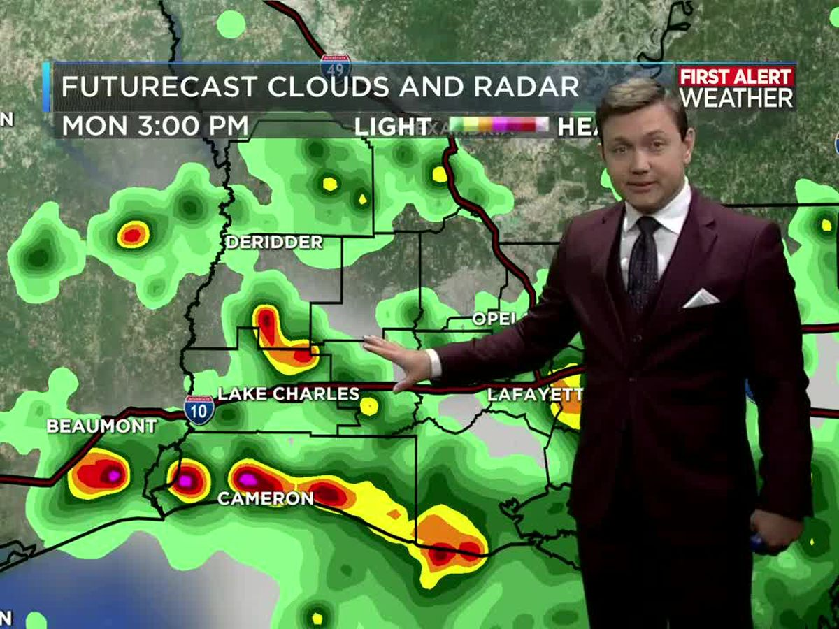 First Alert Forecast: Daily scattered showers and storms limit the afternoon heat