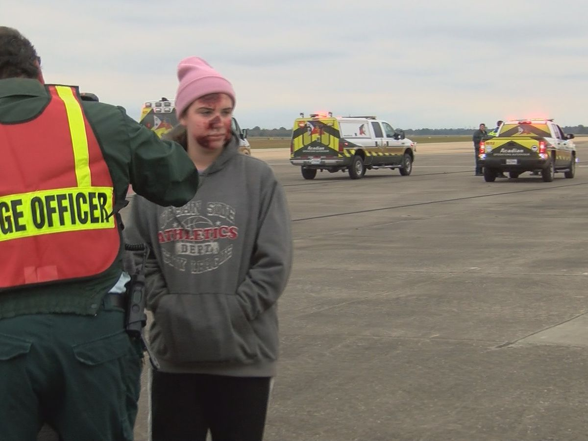 Lake Charles Regional Airport holds drill to increase airport safety